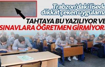 Trabzon'daki lisede dikkat çeken uygulama