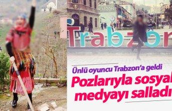 Ünlü oyuncu Trabzon'a geldi