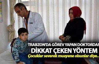 Trabzon'da görev yapan doktordan dikkat çeken...