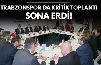 Trabzonspor'da kritik toplantı sona erdi