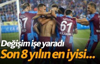 Trabzonspor'da değişim işe yaradı