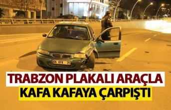 Ters yöne gridi - Trabzon plakalı araçla kafa kafaya...