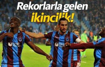 Trabzonspor ikinciliğe rekorlarla yerleşti