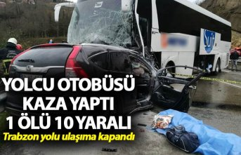 Yolcu otobüsü ile cip çarpıştı: 1 ölü, 10...