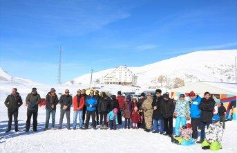 Kop Dağı'nda kayak sezonu başladı!