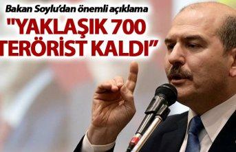 """Soylu: """"Yaklaşık 700 terörist kaldı, şimdi..."""