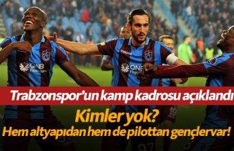 İşte Trabzonspor'un kamp kadrosu!