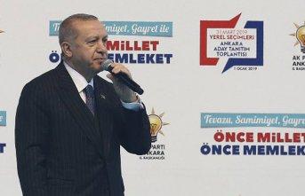 Cumhurbaşkanı Erdoğan, AK Parti'nin Ankara...