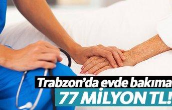 Trabzon'da 77,1 milyon lira evde bakım ücreti...