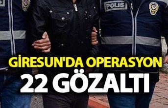 Giresun'da operasyon - 22 gözaltı
