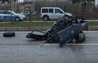 Samsun'da korkutan kaza: 1 ölü, 1 yaralı