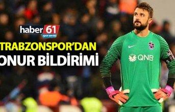 Trabzonspor Onur'u KAP'a bildirdi