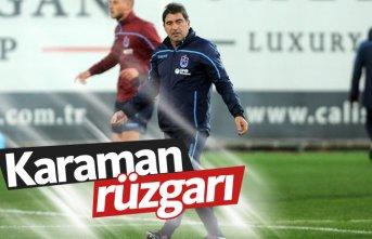 Trabzonspor kampında Karaman rüzgarı