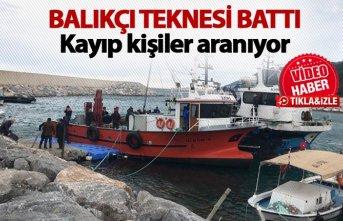 Balıkçı teknesi battı!