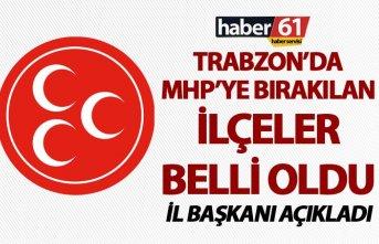 Trabzon'da MHP'ye o ilçeler verildi - İl...