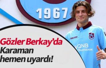 Trabzonspor'da Berkay Sefa dikkat çekti