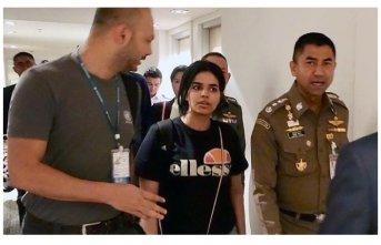 Tayland'da alıkonulan Suudi genç kadın Kanada'da