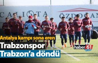 Trabzonspor Trabzon'a döndü!