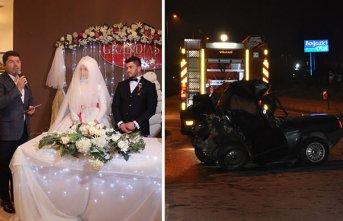Bartın'da Yeni evli çifti korkunç kaza ayırdı