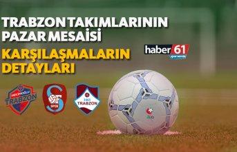 Trabzon takımlarının pazar mesaisi! | Karşılaşmaların...