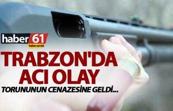Trabzon'da acı olay - Torununun cenazesine geldi...