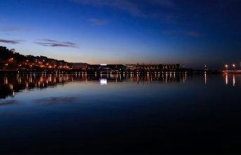 Samsun'da akşam manzarası