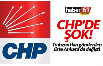 CHP Trabzon'da şok