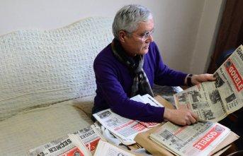 46 yıldır gazete biriktiriyor