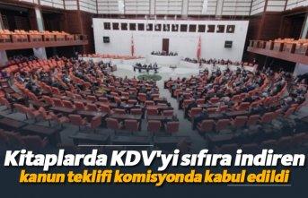 Kitaplarda KDV'yi sıfıra indiren kanun teklifi komisyonda kabul edildi