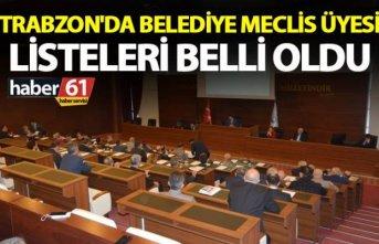 Trabzon'da Belediye Meclis Üyesi listeleri belli oldu