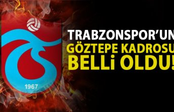 Trabzonspor'un Göztepe kadrosu belli oldu
