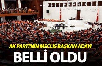 AK Parti'nin Meclis Başkan adayı belli oldu...
