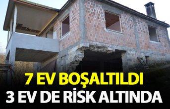 Ordu'da 7 ev boşaltıldı 3 ev risk altında