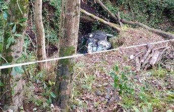 Otomobil uçuruma yuvarlandı, 1 ölü