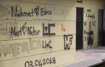 Duvarlar yazılarla kirletiliyor!