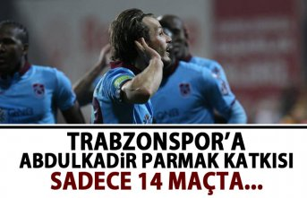 Trabzonspor'a Abdulkadir Parmak katkısı