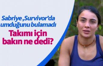 Sabriye Şengül Survivor'da aradığını bulamadı