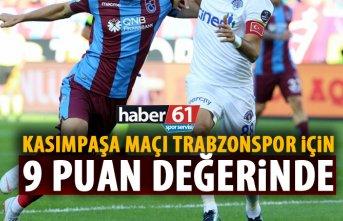 Trabzonspor için 9 puanlık maç