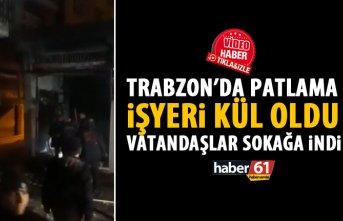 Trabzon'da iş yerinde patlama!