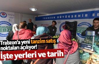 Trabzon'da yeni tanzim satış yerleri açılıyor!
