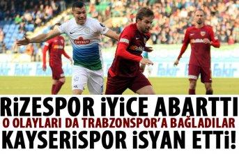 Rizespor çıkan olayları Trabzonspor'a bağladı!...