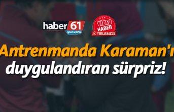 Trabzonspor idmanında özel misafirler! Ünal Kamaran'ı...