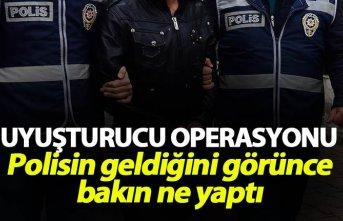 Rize'de operasyon - Polisin geldiğini görünce...