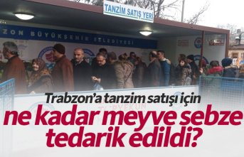 Tanzim satışı için Trabzon'a ne kadar meyve...