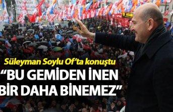 """Süleyman Soylu: """"Bu gemiden inan daha binemez"""""""