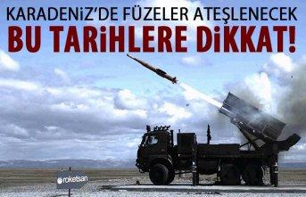 Karadeniz'deki roket atış planı belli oldu!