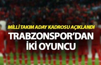 Milli Takım Aday kadrosu açıklandı - Trabzonspor'dan...