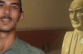 Atatürk büstüne saldıran sanığa 18 yıl 8 ay hapis cezası