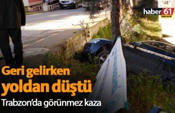 Trabzon'da araç yoldan düştü