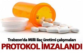 Trabzon'da Milli ilaç üretimi çalışmaları...